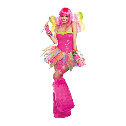 Dreamgirl Women's Rainbow Fairy Costume, Multi, Small