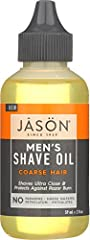 Treat yourself to a closer, more comfortable shave with JASON Men's Coarse Hair Shave Oil. Our blend of grapeseed, argan and castor oils softens even the toughest facial hair, while tea tree oil helps fight irritation. The result is an close,...