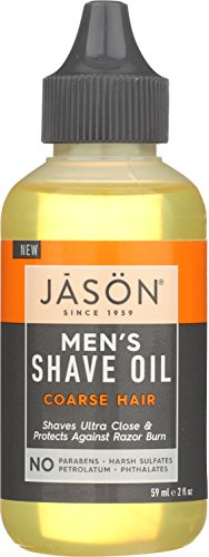 JASON Men's Coarse Hair Shave Oil, 2 oz. (Packaging May Vary)
