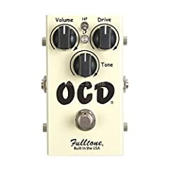 The Fulltone OCD-Obsessive Compulsive Drive-overdrive pedal packs classic OD tones into a compact pedal with simple, no-fuss operation. From heavy crunch rich with overtones and feedback to spanky cleans, the OCD delivers the sounds of a grea...