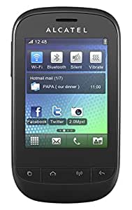 Alcatel One Touch 720 OT-720D Unlocked GSM Phone with Dual SIM, 2MP Camera, Video, Wi-Fi, Bluetooth, FM Radio, MP3 player and microSD Slot - Black