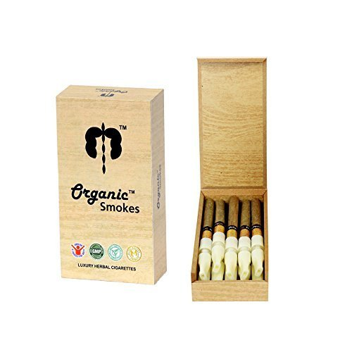 Organic Smokes   Gmp Certified  Luxury Herbal Cigarette With Wooden Case And Filter  Ecstacy   Honeyrose Alternative