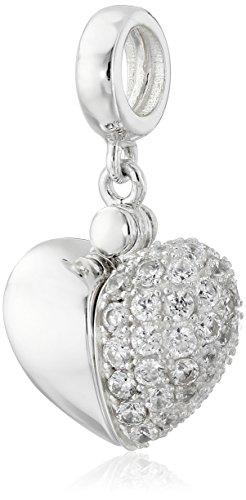 (Chamilia Swarovski Zirconia Secret Message Heart Locket Bead Charm)