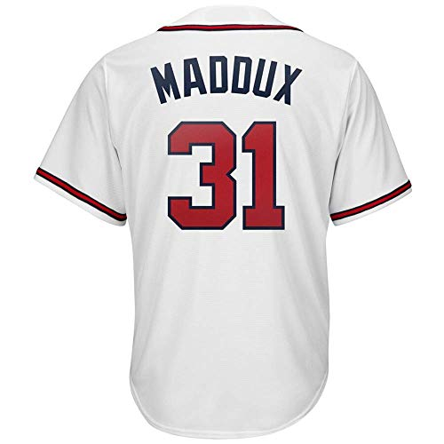 CAREFORM Men's/Women's/Youth_Greg_Maddux_#31_Fans_Jersey_White_Alternate_Cool_Base_Player_Jersey (Greg Maddux Jersey)