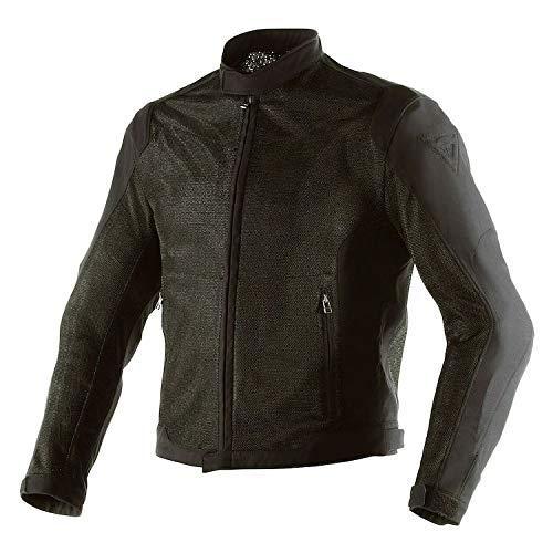Tex Leather Mesh Jacket (Dainese Men's Air Flux D1 Tex Jacket (Black, 50))