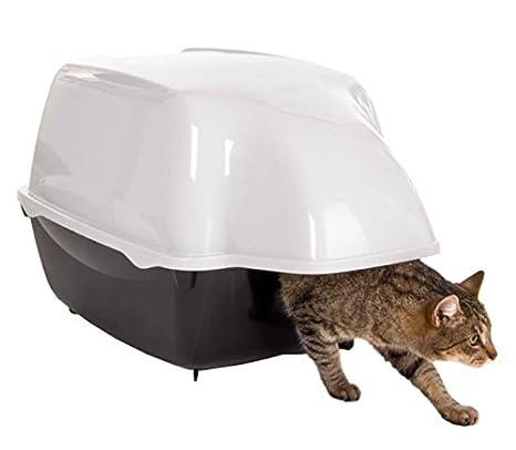 Cat Litter tray - Bandeja para gatos con entrada extra grande, capucha impermeable, adecuada para grandes gatos, color blanco y negro: Amazon.es: Productos ...