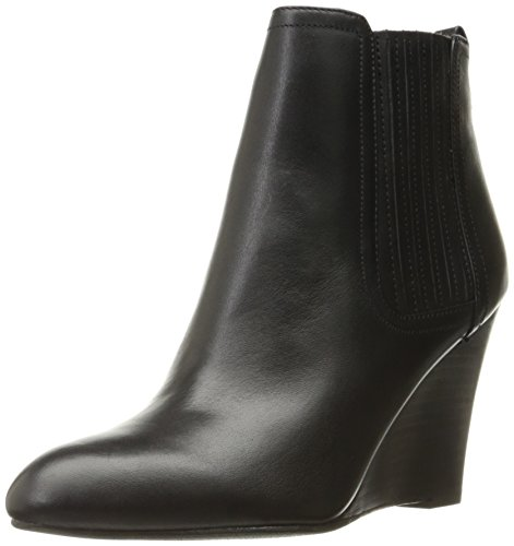 Sam Edelman Women's Gillian Ankle Bootie, Black Leather, 7 M (Leather Wedge Boot)