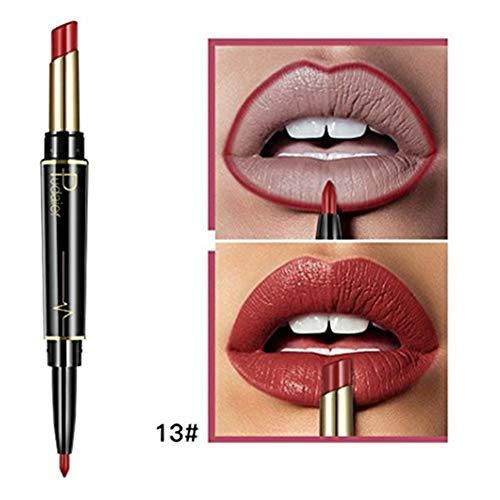 (Inverlee New Lip Liner Pencil Double-end Lasting Lipliner Waterproof Lip Liner Stick Pencil Long Lasting Lipliner Makeup Tools Cosmetic 16 Color (M))