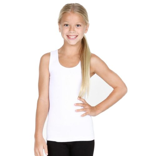 (Sugarlips Girls Ribbed Seamless Tank Top (One Size, White))