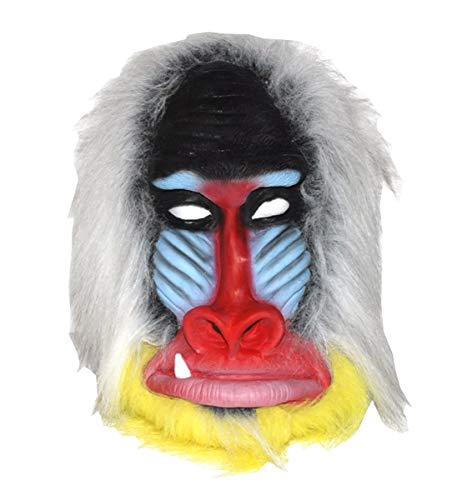Mozlly Novelty Baboon Mask Latex, Halloween Costume Party Decorations & -