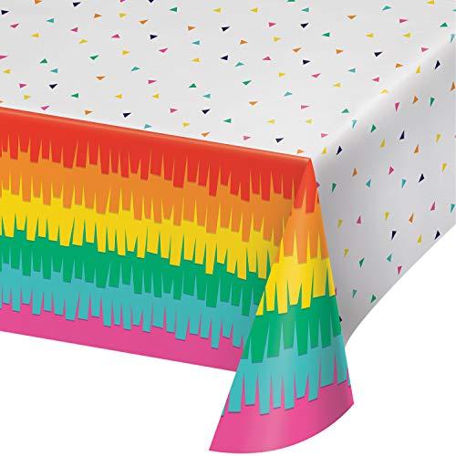 - Fiesta Fun Plastic Tablecloths, 3 ct