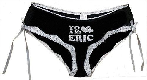 Divertidos regalos para las vacaciones. -Yo amo a mi Eric - Regalo original para cumpleaños, aniversarios... Negro