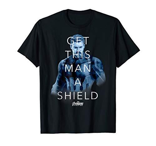 Shield Womens Cap Sleeve T-shirt - Marvel Infinity War Get Captain A Shield Graphic T-Shirt