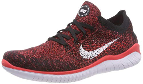 Flyknit Uomo 2018 da Run Laufschuh Crimson White 001 Multicolore Bright Black Running Nike Free Scarpe 4qtn88