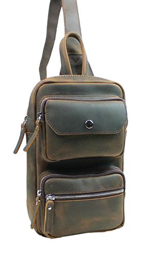 Vagabond Traveler Full Grain Leather Waist Leg Sport Bag LK16.DB by Vagabond Traveler