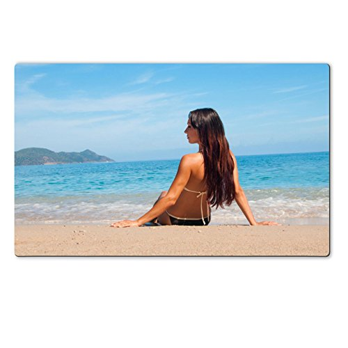 Liili Natural Rubber Large TableMat IMAGE 29080983 Looking at the sea girl in bathing suit