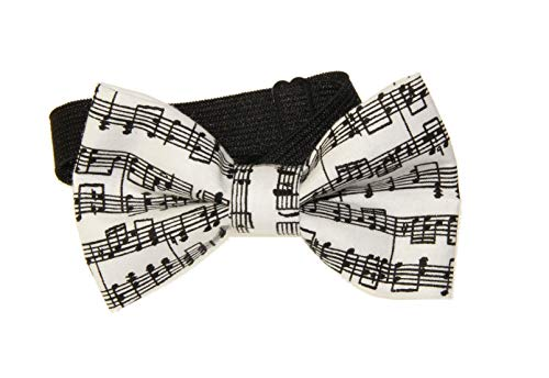 Boys Youth Sheet Music Pre-Tied Cotton Adjustable Bow Tie Elastic - Tie Sheet Music