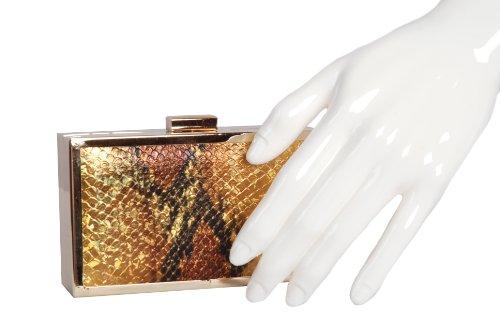 Cornice In Metallo Colore Oro Perlato-scatola Piccola Borsa Di Claudia Canova