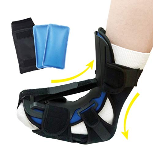Sleep Support Night Splint, Foot and Leg Stretcher, Effective Relief from Plantar Fasciitis Pain, and Achilles Tendonitis (L/XL)
