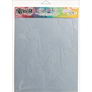 Ranger Dyan Reaveley's Dylusions Stencils, 9 by 12-Inch, Flossie