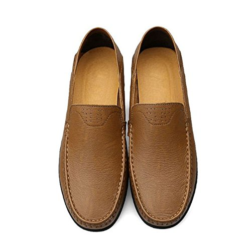 Seasons Four Leisure Breathable Zapatos Men de Caqui Cuero THdqHzwrx