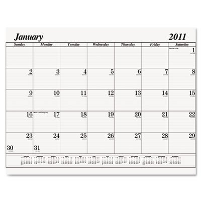 House Of Doolittle 126 One-Color Dated Monthly Desk Pad Calendar Refill, 22w x 17h, 2012 by House of Doolittle