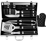 ROMANTICIST 21pc Stainless Steel BBQ Grill Tool Set for Men with Gift Box
