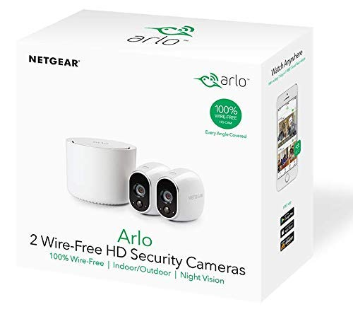 Arlo Wireless Home Security Camera System with Motion Detection, Night  Vision, Indoor/Outdoor, HD Video, Wall Mount, Cloud Storage Included, 1  Camera