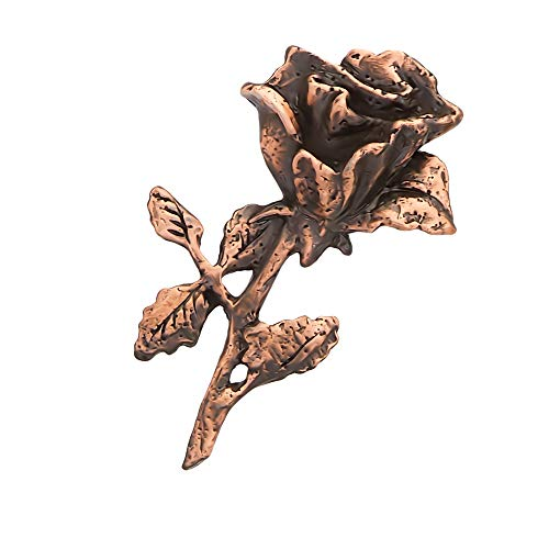 (Creative Pewter Designs Rose and Stem Flower Copper Plated Lapel Pin, Brooch, Jewelry, AC139)