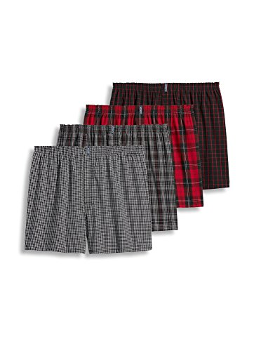 Jockey Men's Underwear Classic Full Cut Boxer - 4 Pack, bruce plaid, XL (Mens Plaid Classic Boxer)