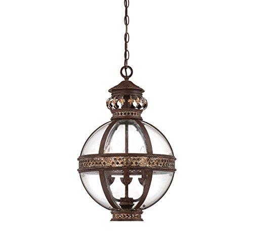 Pendants 3 Light with Fiesta Bronze Finished Candelabra Bulbs 15 inch 180 Watts