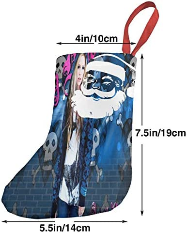 クリスマスの日の靴下 (ソックス3個)クリスマスデコレーションソックス Avril クリスマス、ハロウィン 家庭用、ショッピングモール用、お祝いの雰囲気を加える 人気を高める、販売、プロモーション、年次式