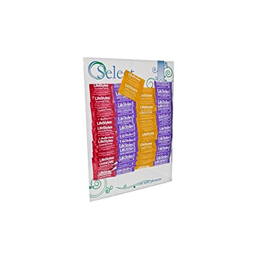 (Product Of Life Style, Single Assorted Condom - Carded, Count 48 - Birth Control / Grab Varieties & Flavors)