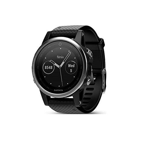 Garmin 42mm Fenix 5S Silver And Black Band GPS Running Watch by Garmin