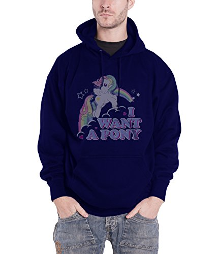 MLP - I Want A Pony Hoodie (Navy), Large