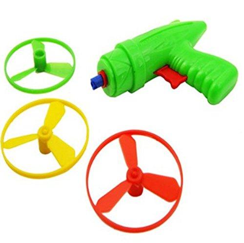 YOYOSTORE 1 Set Plastic Space Game Toy Gun Spin Flying Saucer Shooter Model Kit Children Kids Christmas Gift - Randomly Color