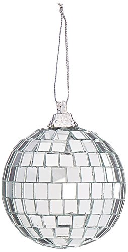 Darice 6-Piece Mirror Ornament Ball, 2.25-Inch, Silver (Mirror Ornament)