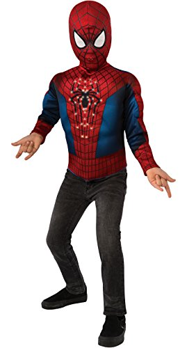 All Spiderman Costumes In Amazing Spider Man (The Amazing Spider-man 2, Spider-man Light-Up Costume Top and Mask, Child Standard)