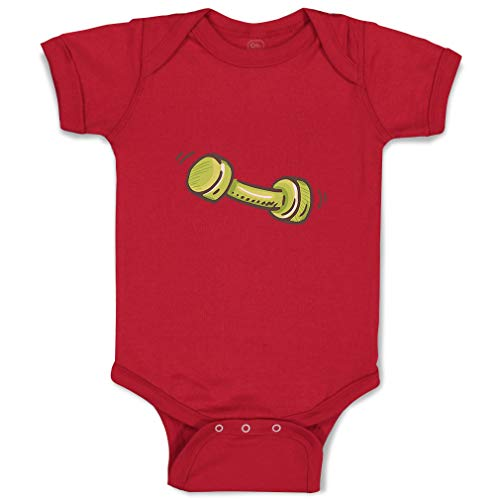 Custom Boy & Girl Baby Bodysuit Little Barbell Funny Cotton Baby Clothes Garnet Design Only 24 - Barbell Garnet