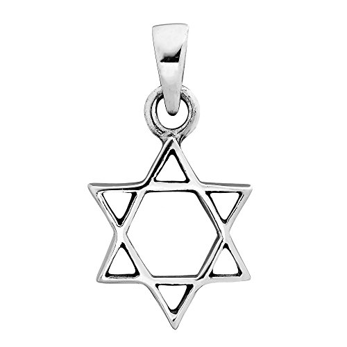 Pendant Angelic Star (AeraVida Classic and Austere Star of David .925 Sterling Silver Pendant)