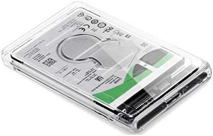 LITI 外付けハードディスク 透明 2.5