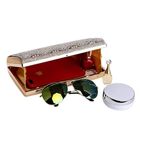 Sera Da Borse Ballo Diamante Borsa White Faux Fiore Donna Clutch Pochette Festa Perla Matrimonio Borsa P0B7qqYw