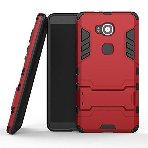 Funda híbrida para Huawei G8, Huawei GX8, doble capa de protección, resistente, rígida con función atril, para Huawei G8,...