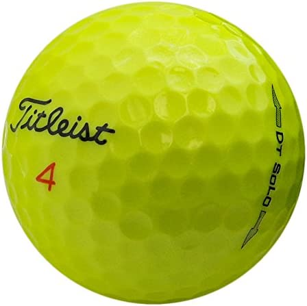 Titleist DT Yellow Mint Recycled Golf Balls Pack of 36