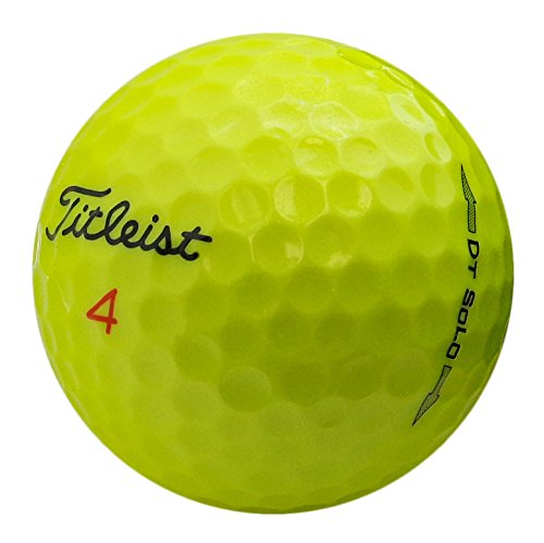 Titleist DT Solo Yellow Mint Recycled Golf Balls (36 Pack) by GolfBallHero