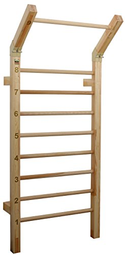 Suples Gladiator Wall – Sturdy Solid Quality Beach Wood – 400 lb Safety Rating – Ideal for Fitness Centers, Home Garage Gyms, Clinics