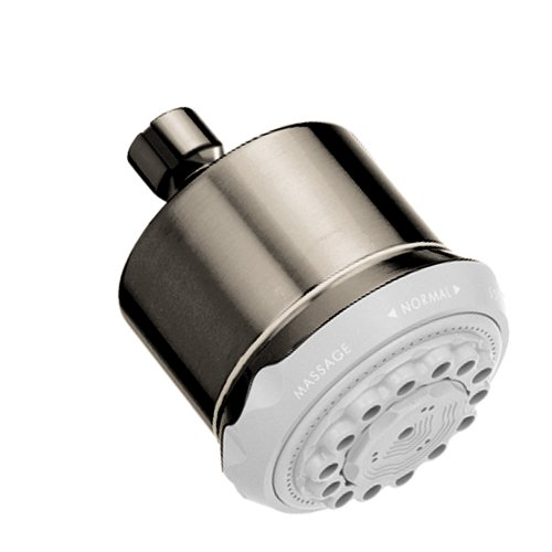 Hansgrohe 28496821 Clubmaster Shower Head, Brushed (Hansgrohe Shower Faucets)