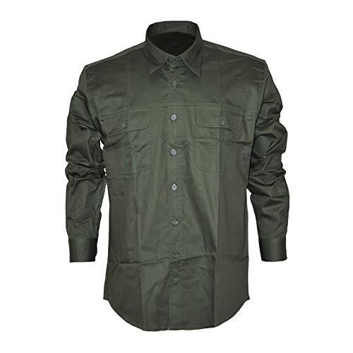 sneakers for cheap 4bd6a e6d78 BLU CITY Camicia Verde Militare 100% Cotone Taglia XXXL ...