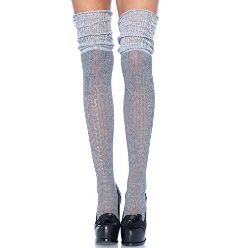Leg Avenue Womens Pointelle Scrunch Knee Socks