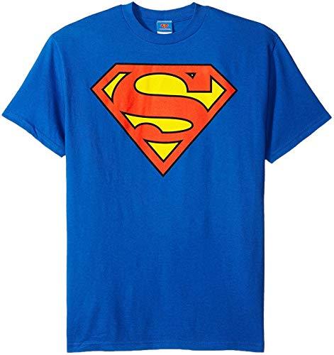 DC Comics Superman Classic Logo Men's T-shirt, 3X-Large, Blue